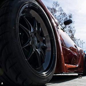 Accelera Tires on a Sports Car