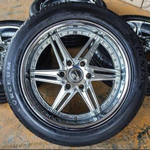 Forceum Tires with chrome wheels